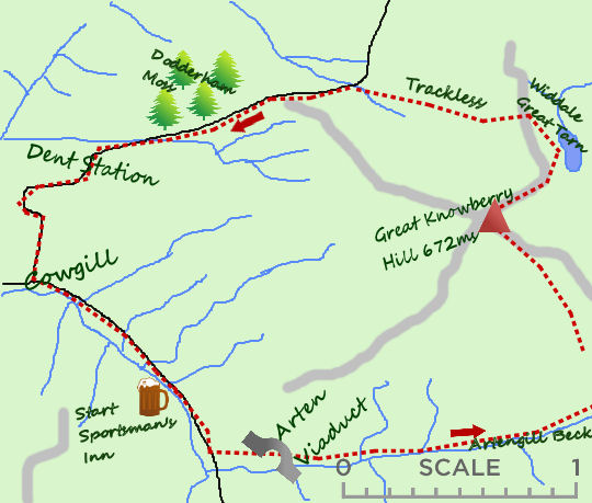 Great Knowberry Hill map