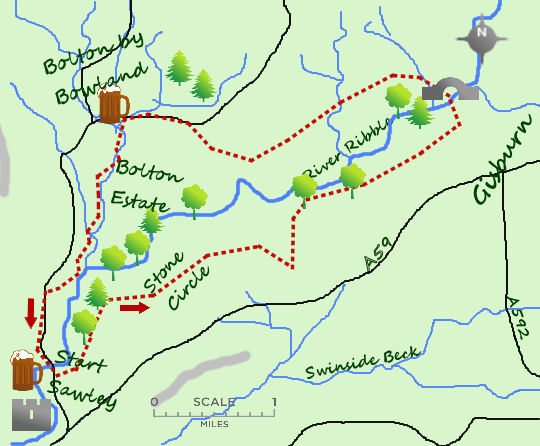 Sawley & Ribble map