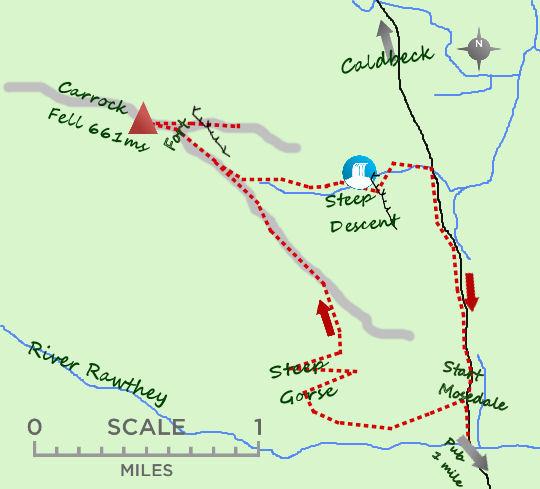 Carrock Fell map
