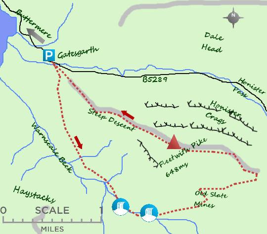 Fleetwith Pike map