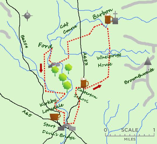 Barbon & Casterton map