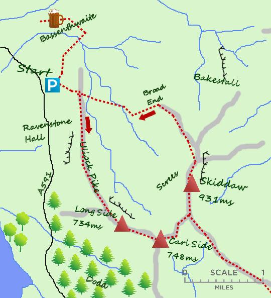 Skiddaw map
