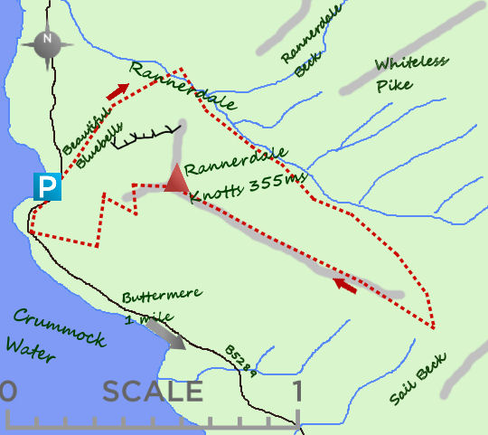 Rannerdale Knotts map
