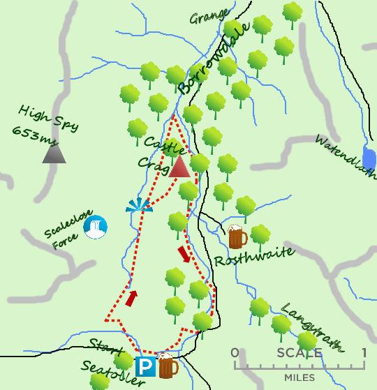 Upper Borrowdale map