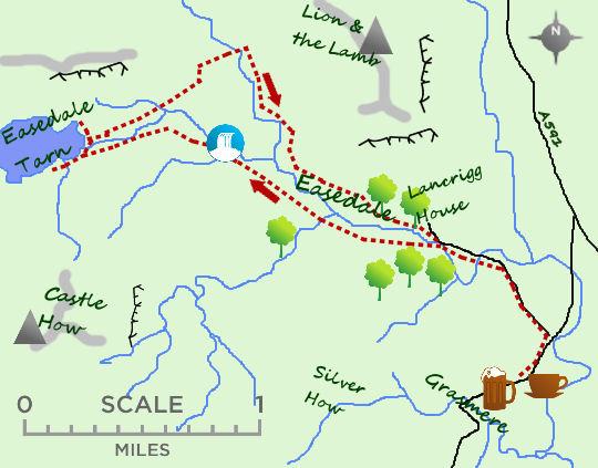 Easedale Tarn map
