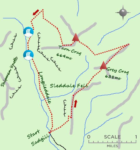 Longsleddale map
