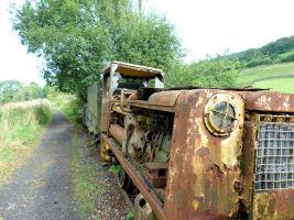 An original steam train