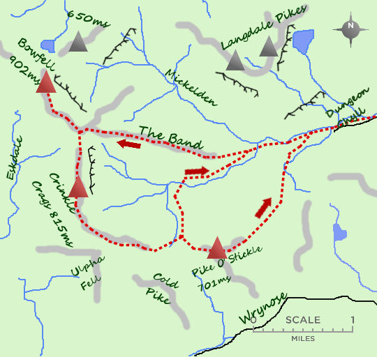 Crinkle Crags map