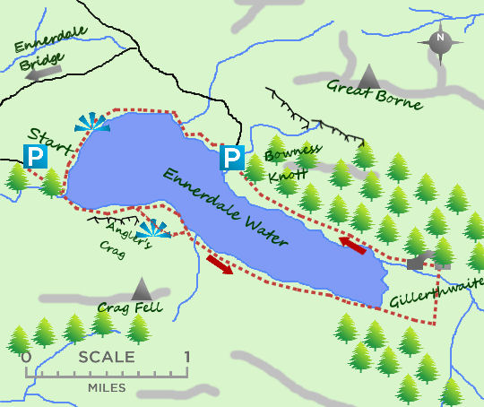 Ennerdale Water map