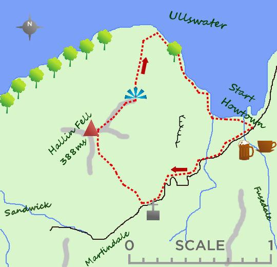 Hallin Fell map