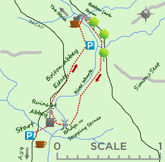Bolton Abbey map