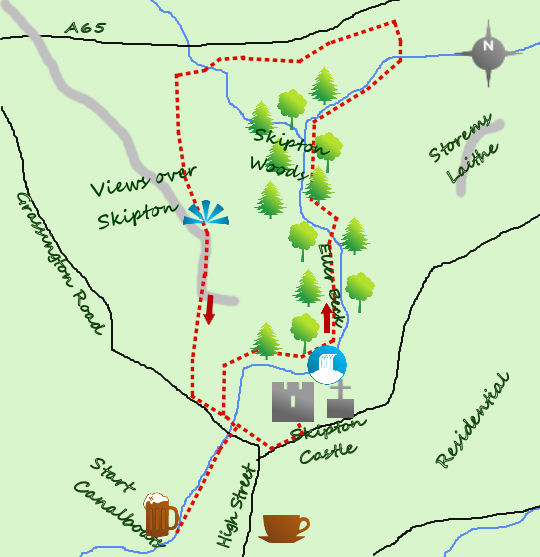 Skipton castle map