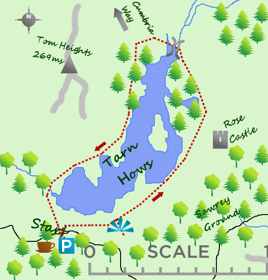 Tarn Hows map