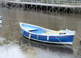 Staithes in the rain