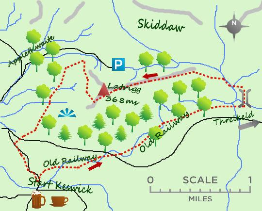 Keswick Latrigg map