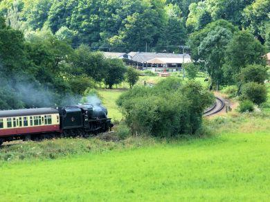 Steam train near Pickering