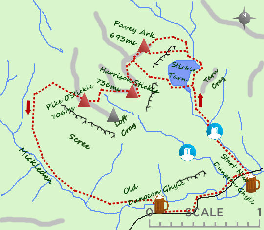 Langdale Pikes map