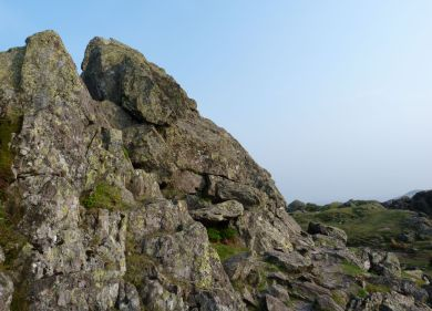 Tricky climb to the summit