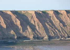 Cliffs on Filey Brigg