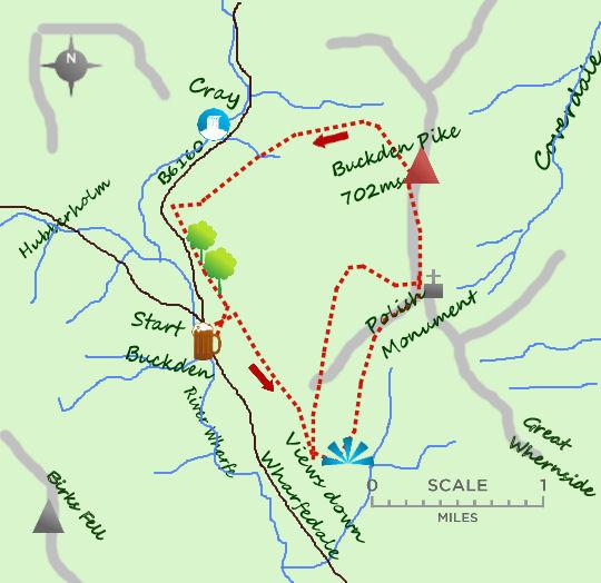Buckden Pike map