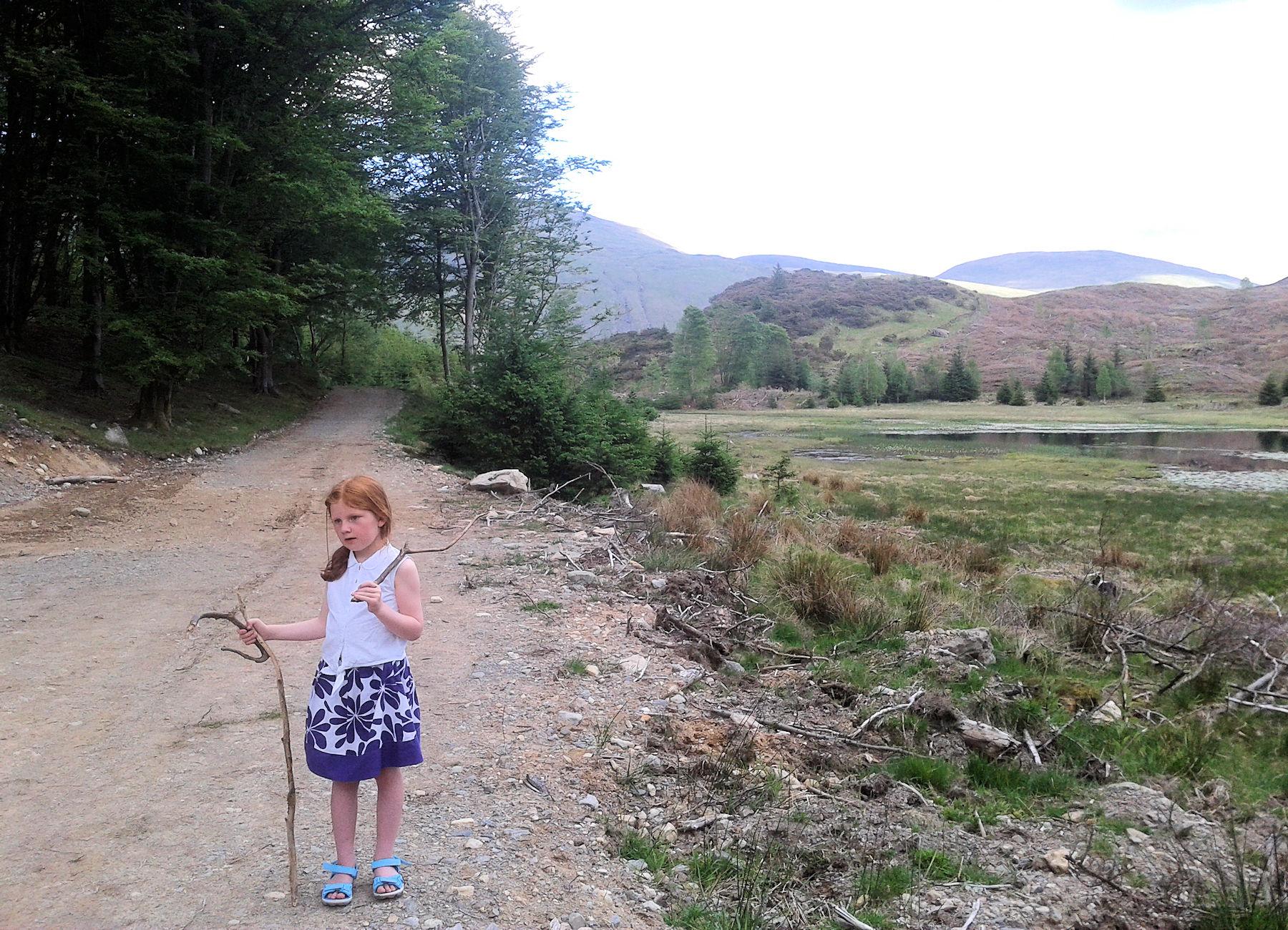 Lucy at Harrop Tarn