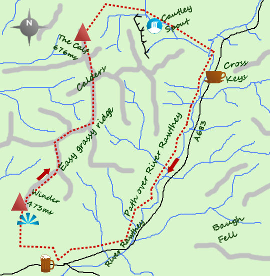 The Howgills map