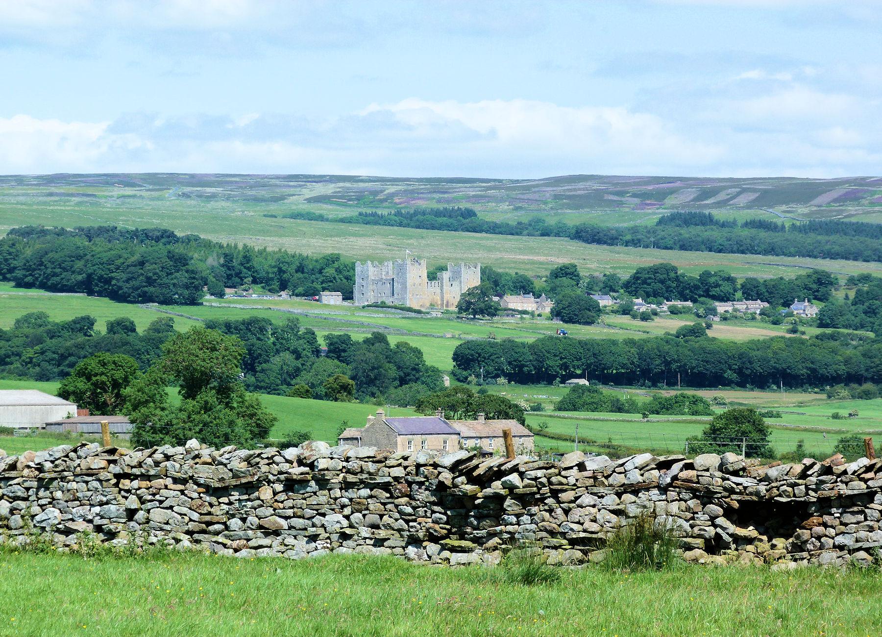 Castle Bolton from Aysgarth