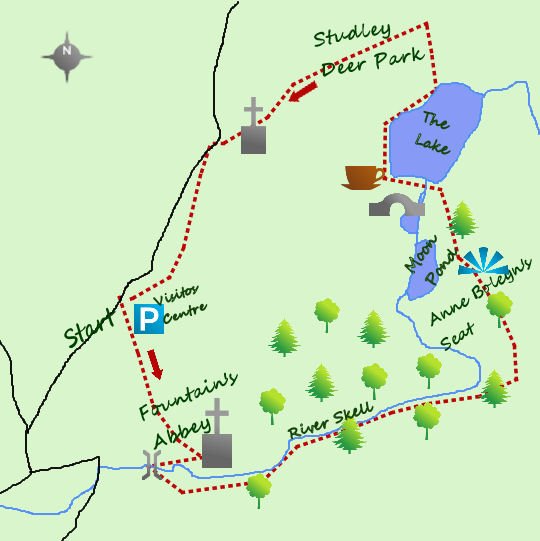 Fountain's Abbey map