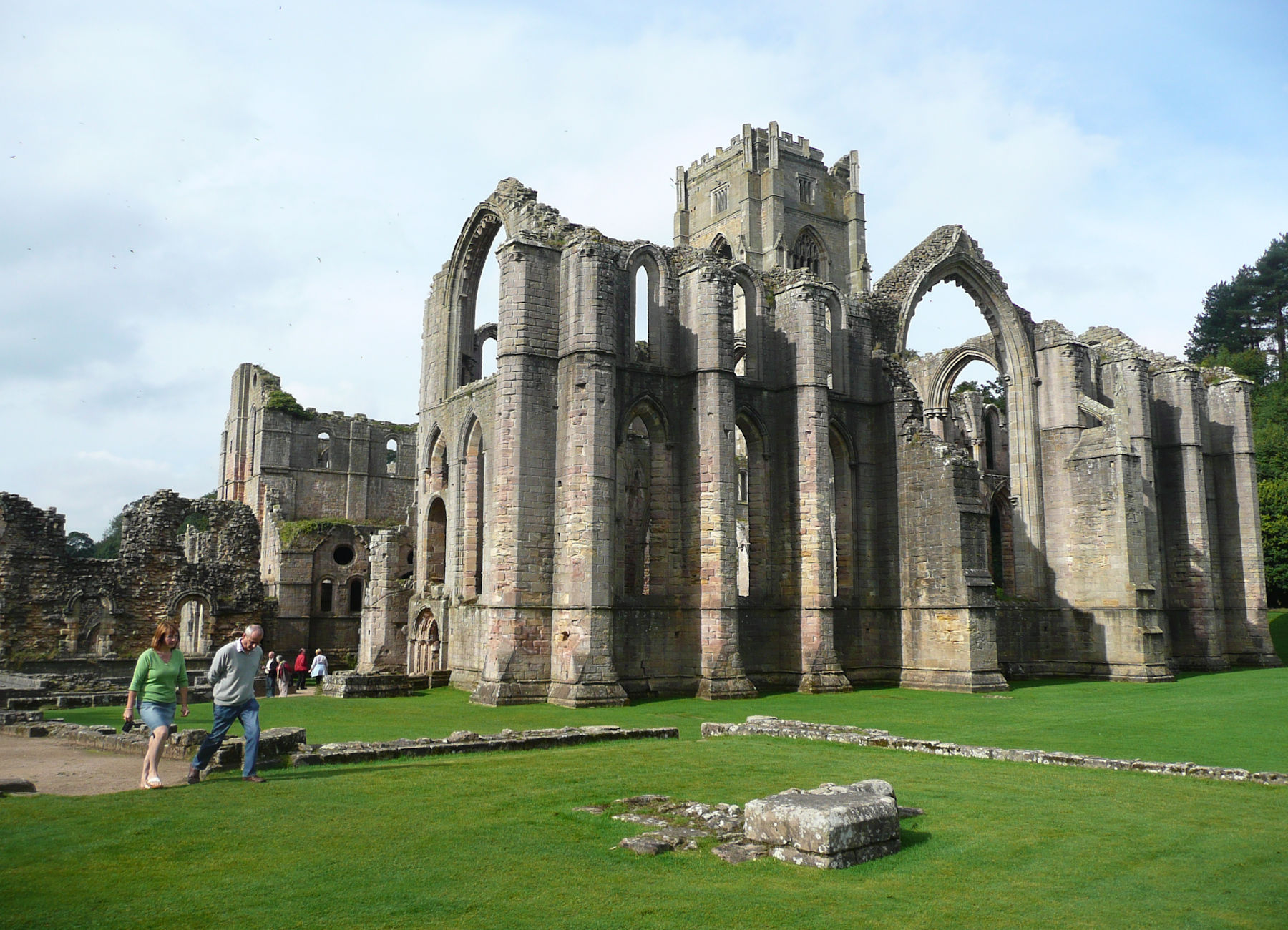 Nave of Fountains Abbey