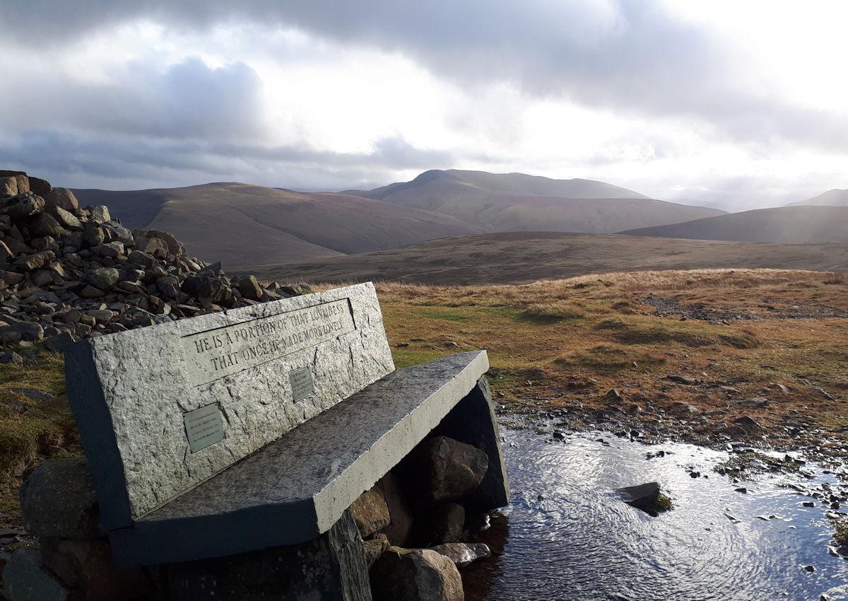 High Pike memorial seat