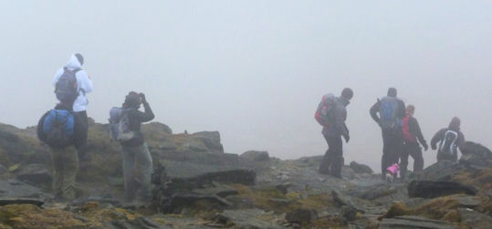 Group off summit Ingleborough