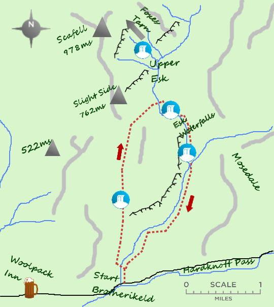 Upper Esk map
