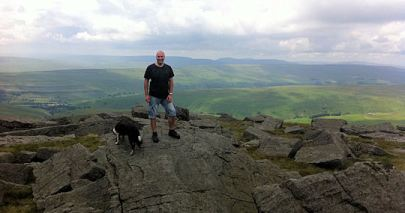 Keith on Great Whernside