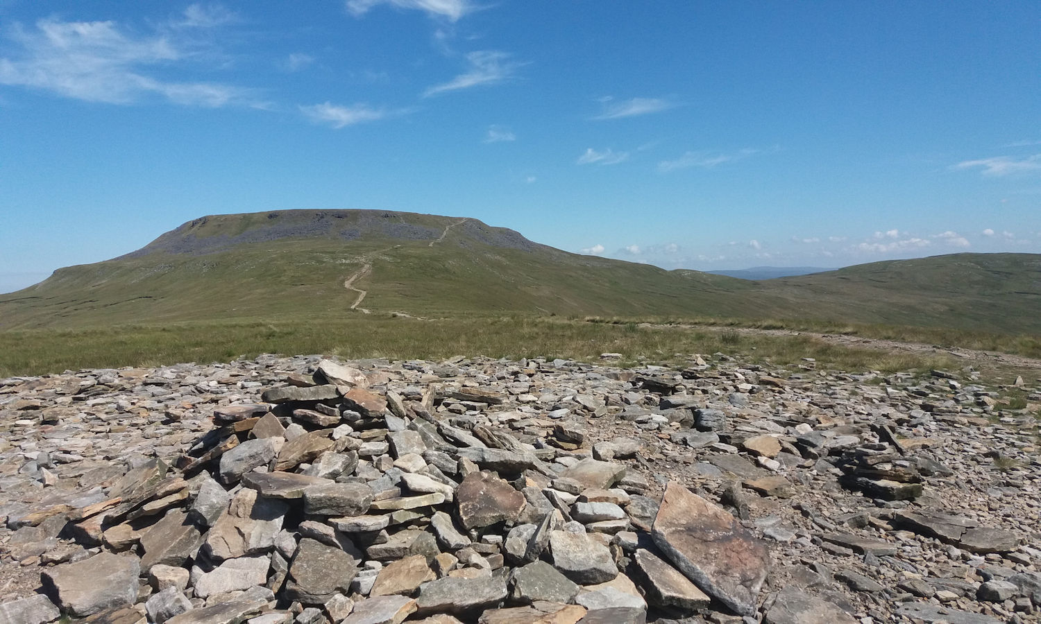 Ingleborough from Little Ingleborough