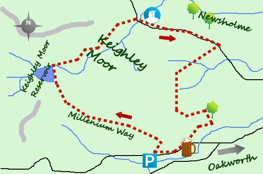 Keighley Moor map