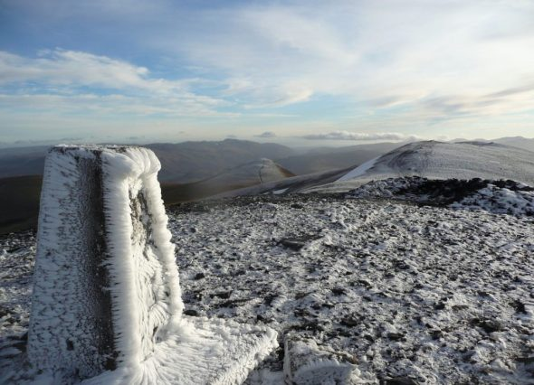 Summit of Skiddaw looking south east