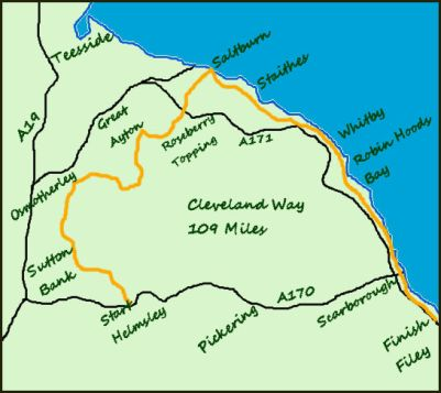 Cleveland Way map