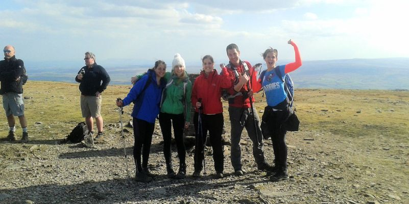 Celebrating on Ingleborough
