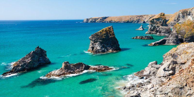 Spectacular coast of the SW Coastal Path