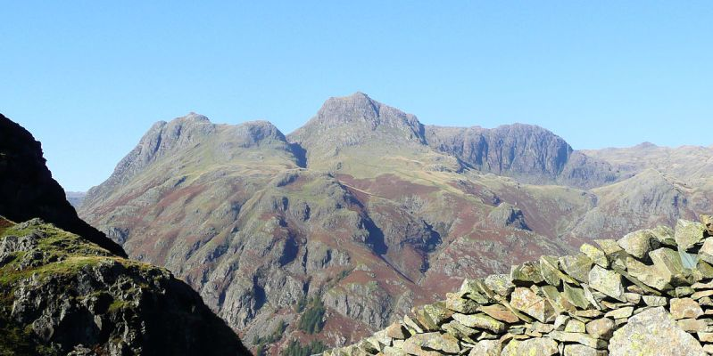 Langdale Pikes and High Raise from Lingmoor