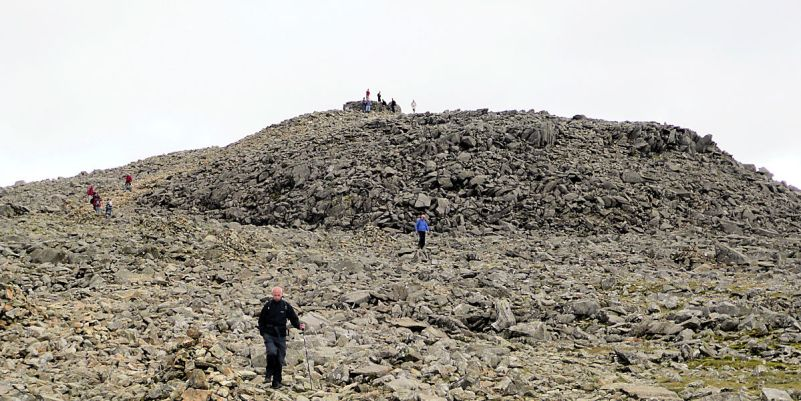 Summit area, Scafell Pike