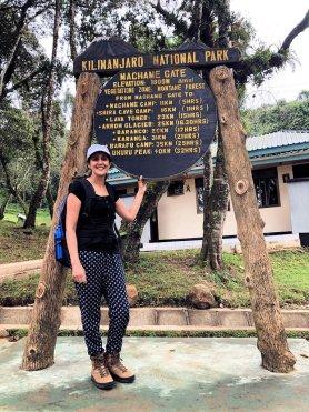 Kay at Machame Gate