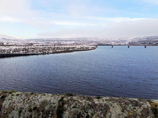 From the dam of Upper Barden Reservoir