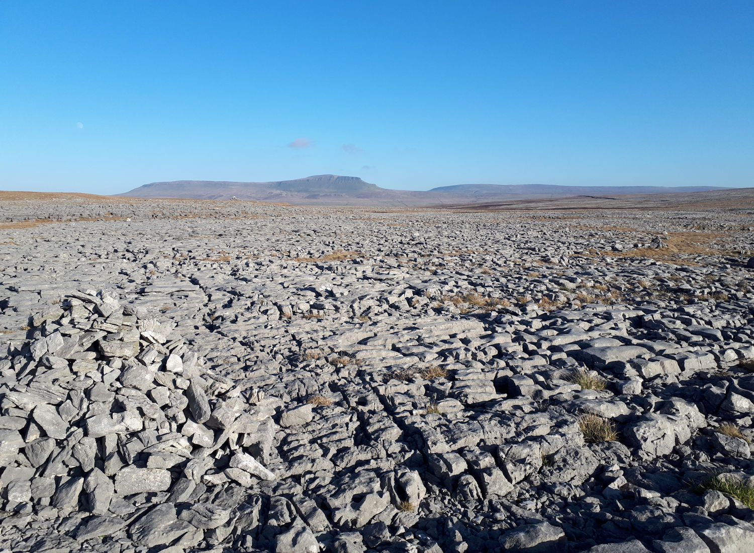 Limestone pavement & Pen-y-Ghent