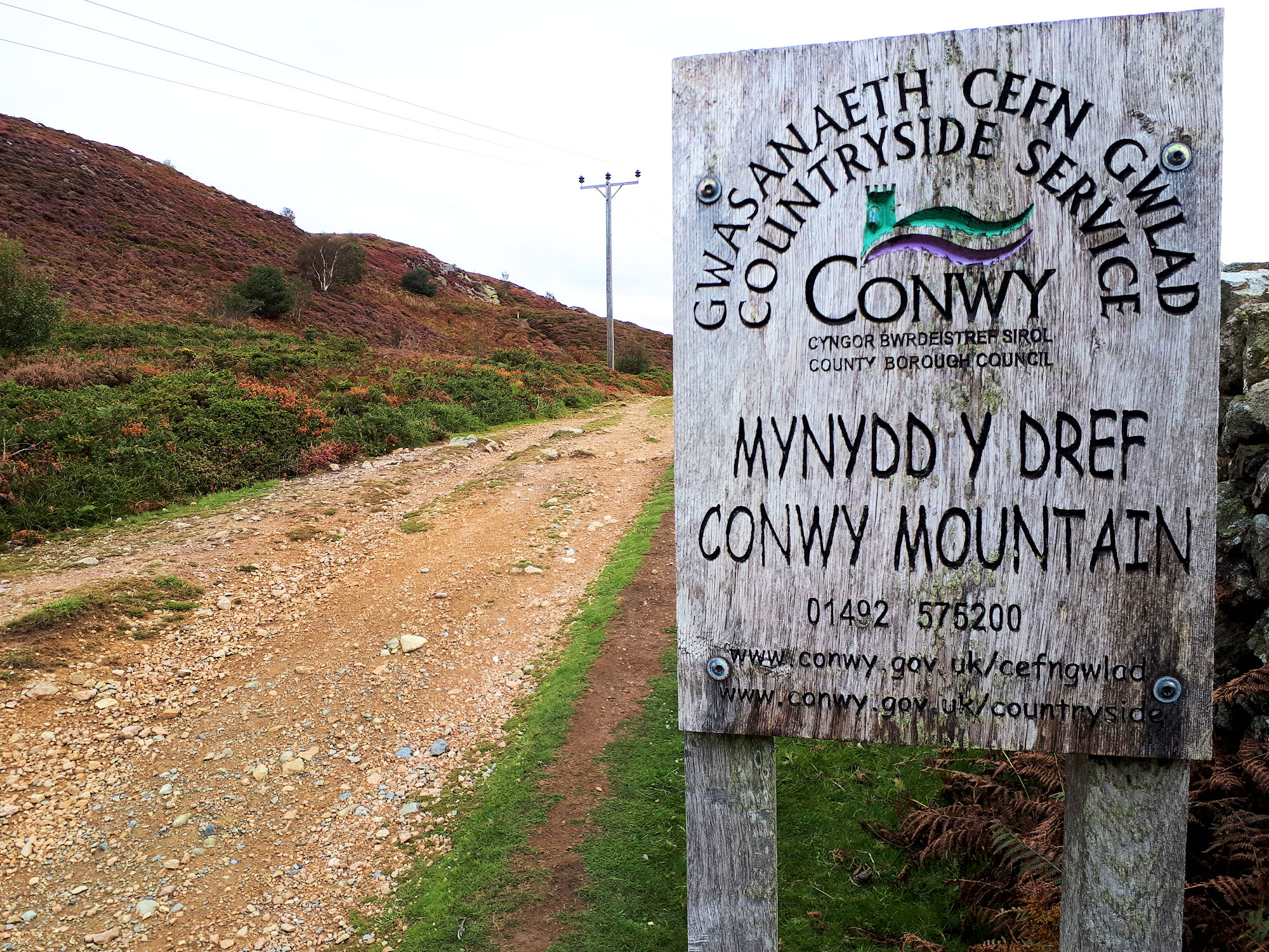Approaching Conwy Mountain
