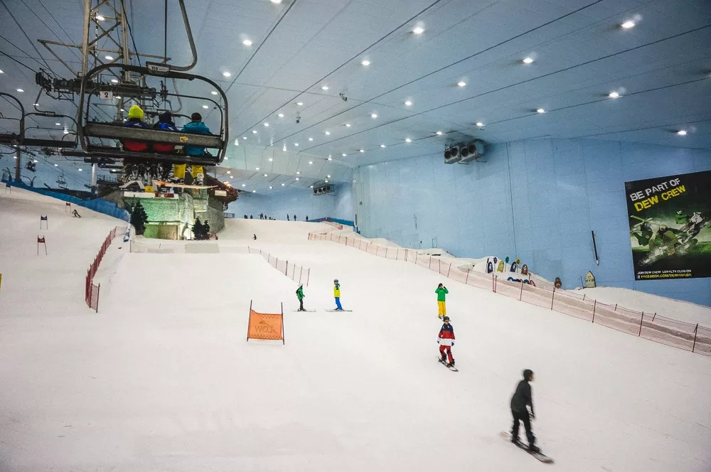 Dubai Indoor Ski Snowboard Lift