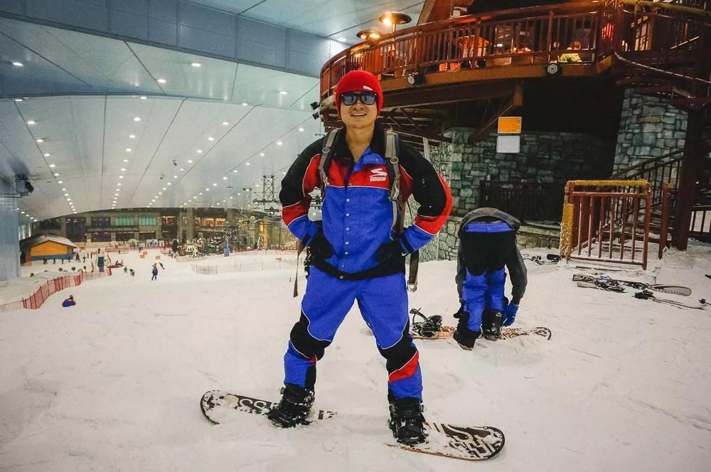 Kien Lam Full Snowboard Ski Uniform Indoor Snowboarding Dubai