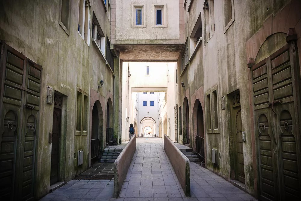Passage into the town of Essaouira in Morocco