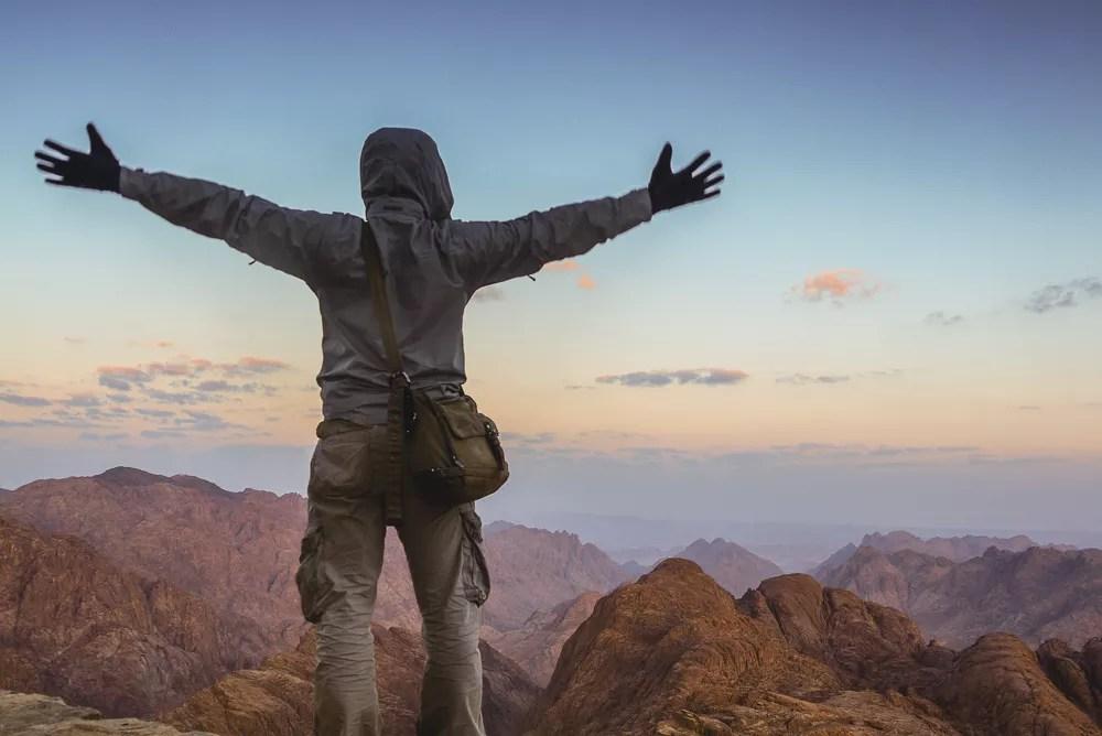 Standing Atop Mount Sinai At Surnise