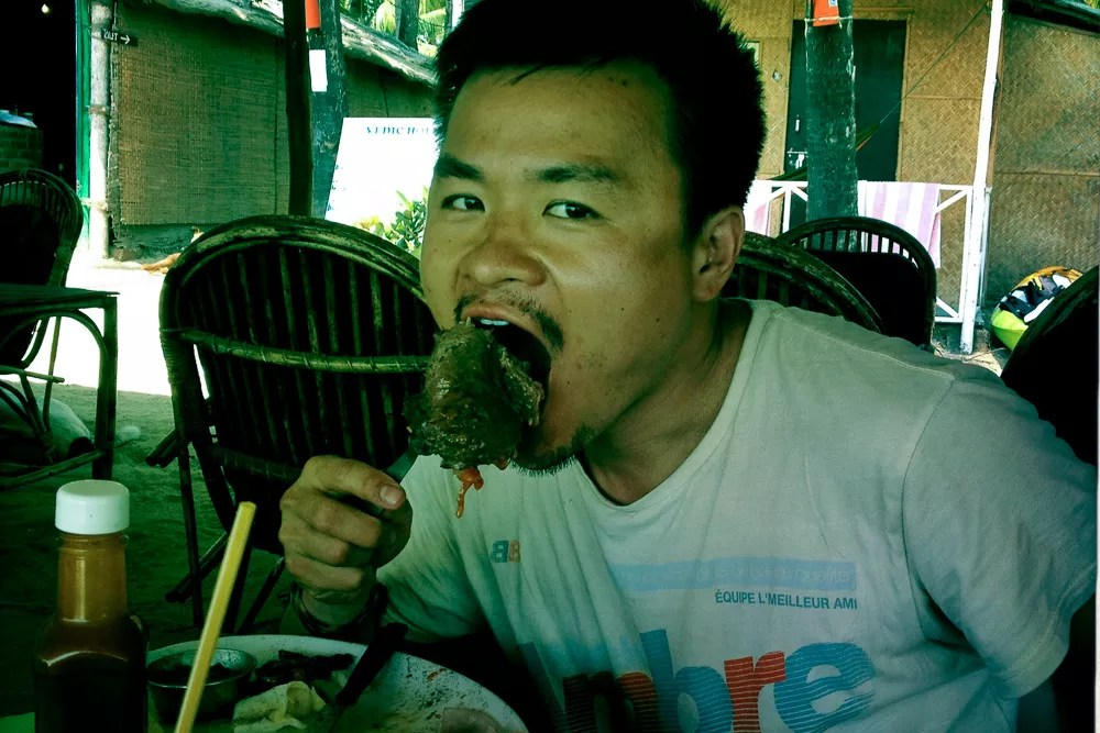 Eating Steak In India